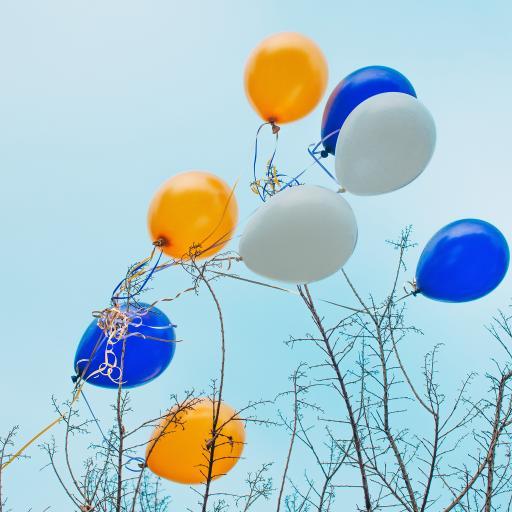 气球 树枝 漂浮 枝头