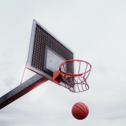 篮球 球场 球框 白云