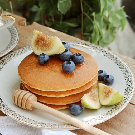 无花果 蓝莓 甜品  松饼