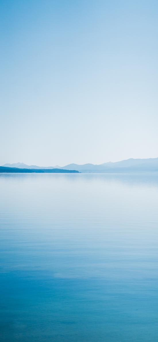 水天一线 湖水 蔚蓝 唯美