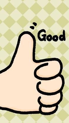 卡通 大拇指 表扬 good