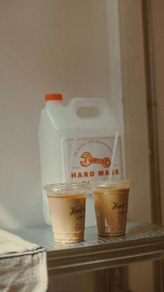 咖啡 饮品 冰镇 吸管
