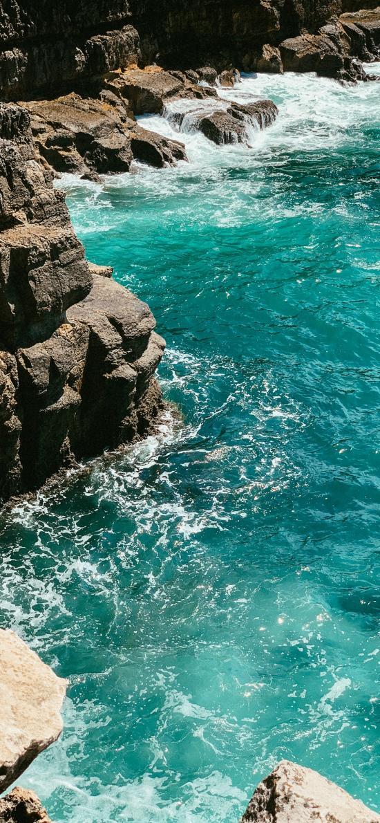 海岸 海水 海浪 浪花