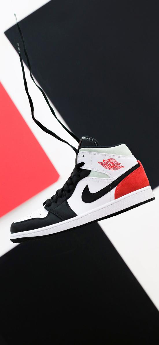 球鞋 AJ 红白 Nike钩