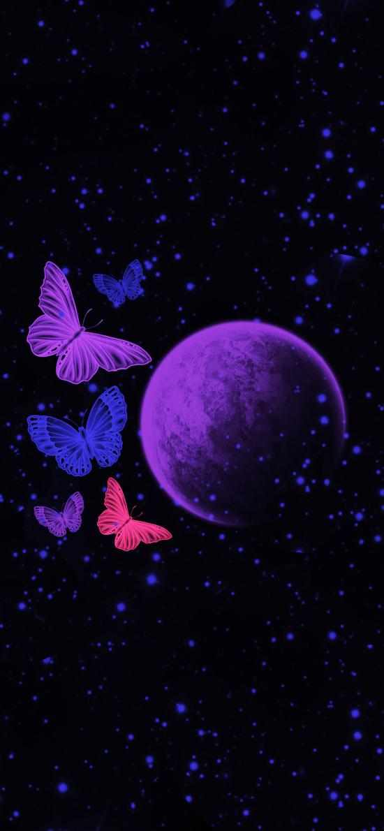 蝴蝶 星空 宇宙 星球 太空