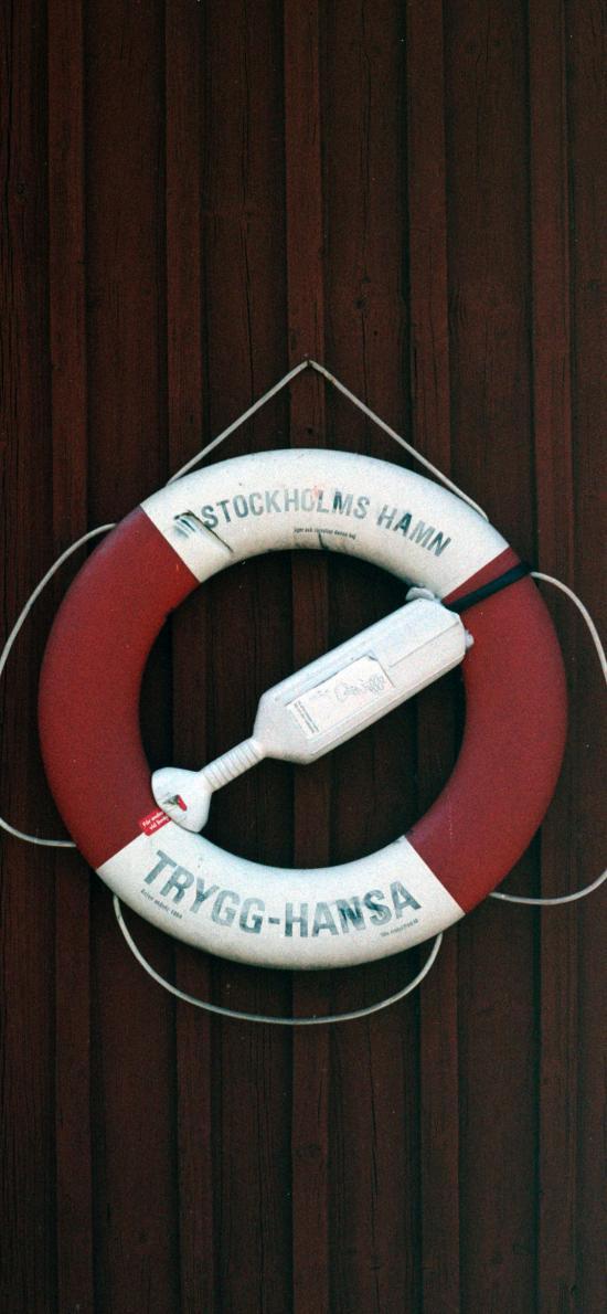 救生圈 泳圈 红白 悬挂
