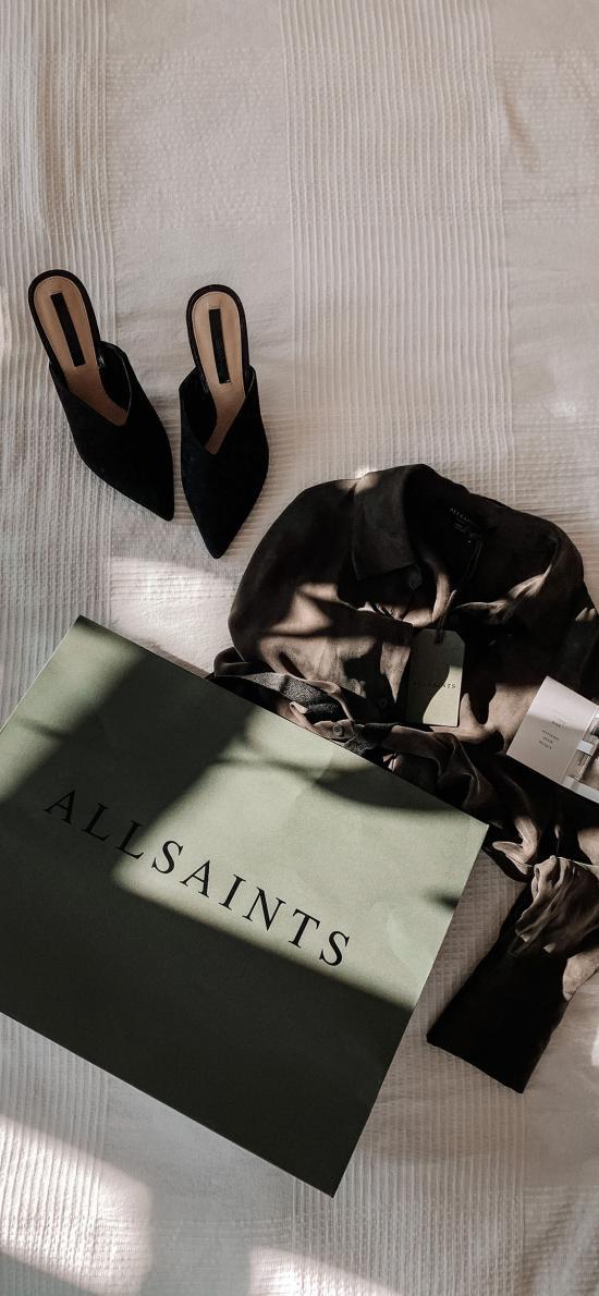 静物 服饰 鞋子 购物袋