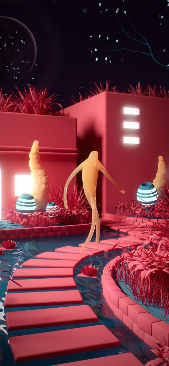 3D场景 科幻 创意 室内