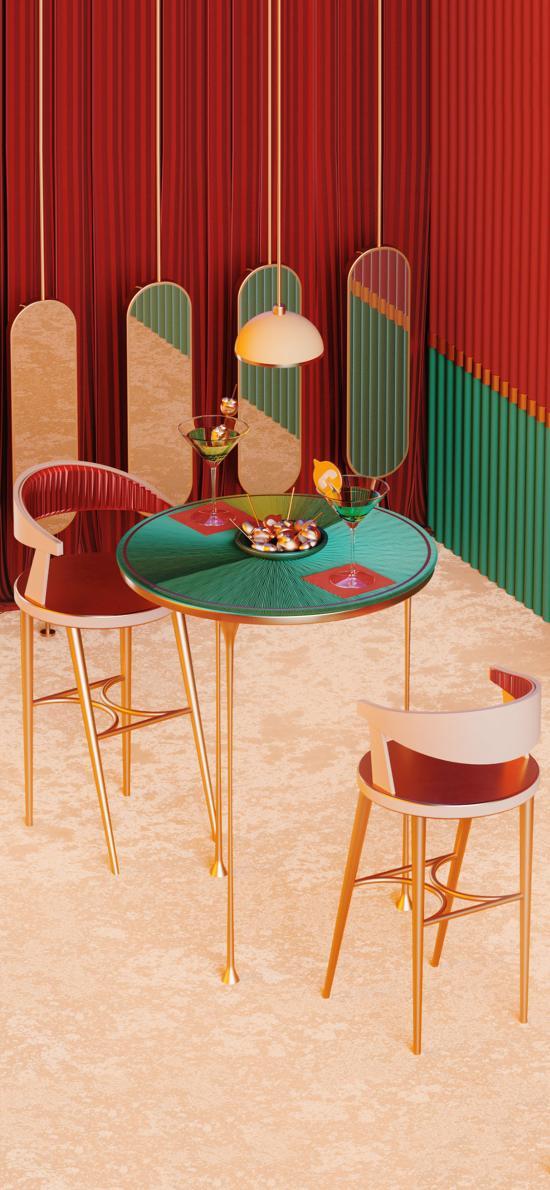 家具 设计 风格 吊灯 镜子