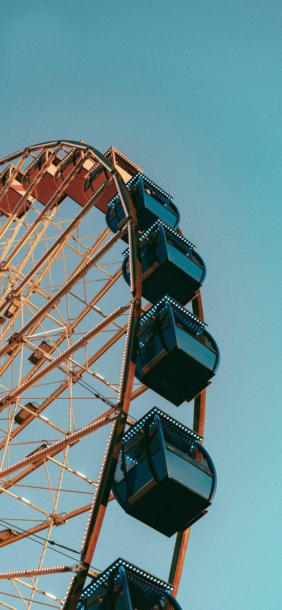 摩天轮 天空 游乐设施 游乐场