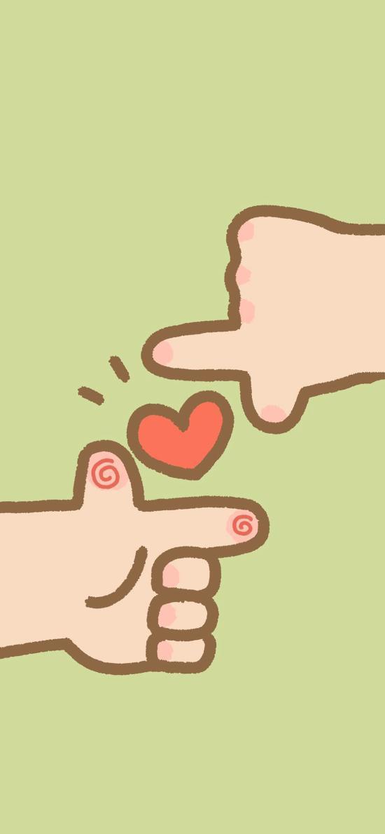 爱心 爱情 心形 手势 情侣
