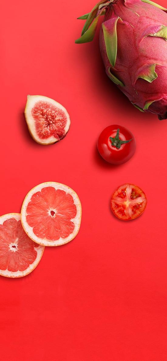 水果 葡萄柚 无花果 火龙果