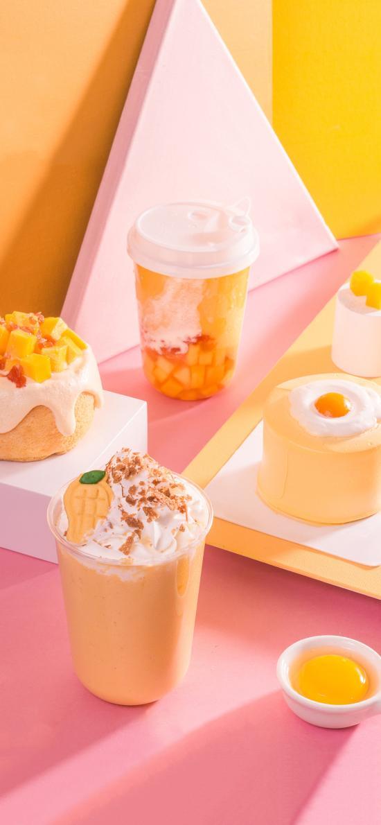 调制 饮品 甜品 蛋糕 鸡蛋