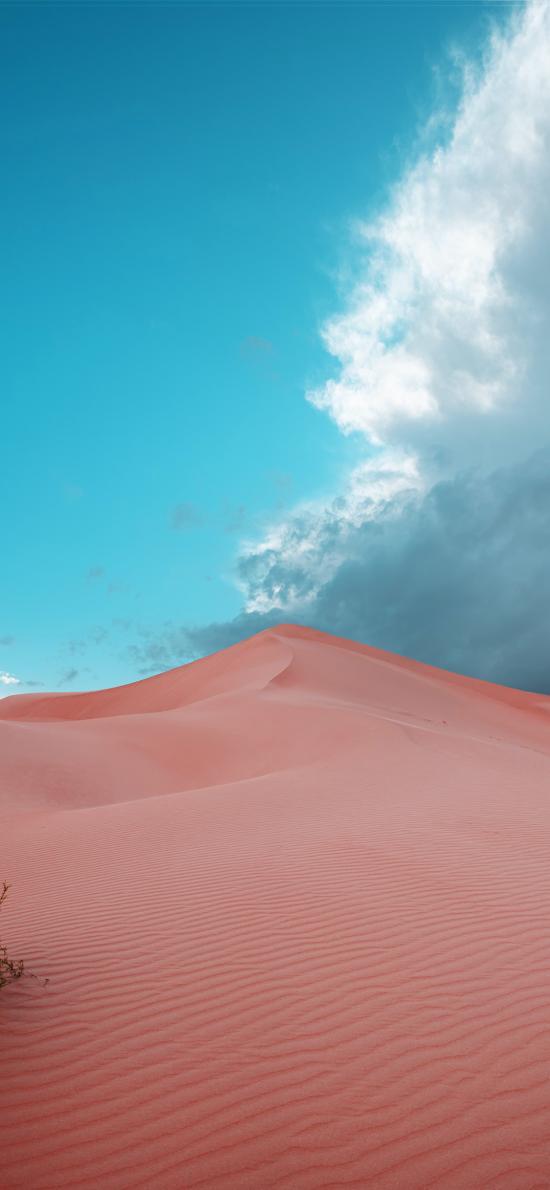 蓝天白云 沙漠 荒漠
