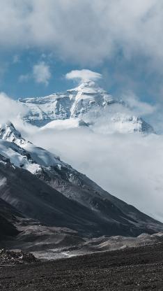 蓝天 山峰 雪山 自然
