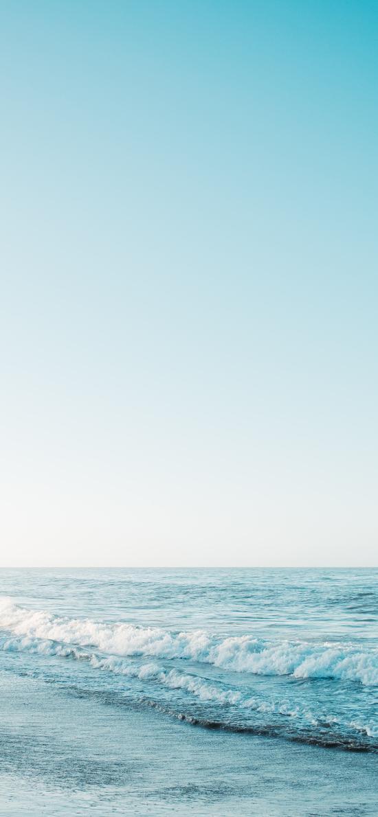 大海 海浪 天空 海天一线