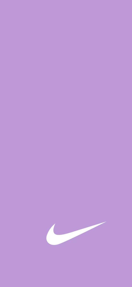 纯色 紫色背景 Nike logo