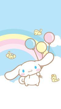 玉桂狗 卡通 可爱 彩虹 鸟 气球