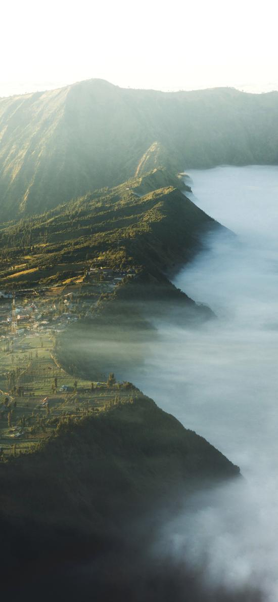 郊外 自然 山峰 云雾
