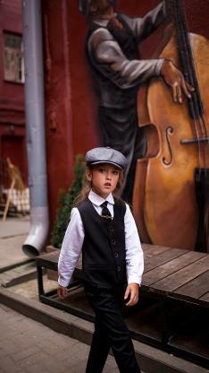 欧美 小女孩 写真 街拍