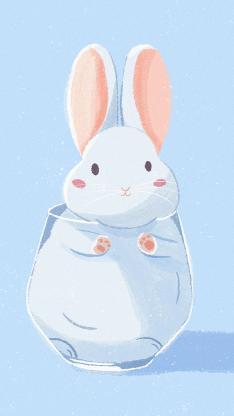 兔子 杯子 卡通 可爱