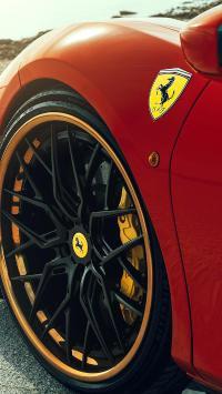 法拉利 超级跑车 炫酷 豪车 红色 轮胎