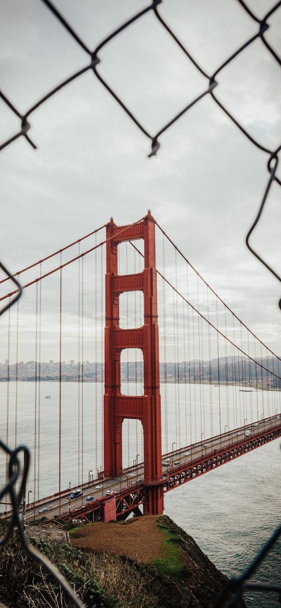铁网 金门大桥 旧金山