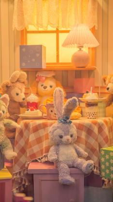 星黛露 迪士尼 布娃娃 玩偶 橱窗 玩具