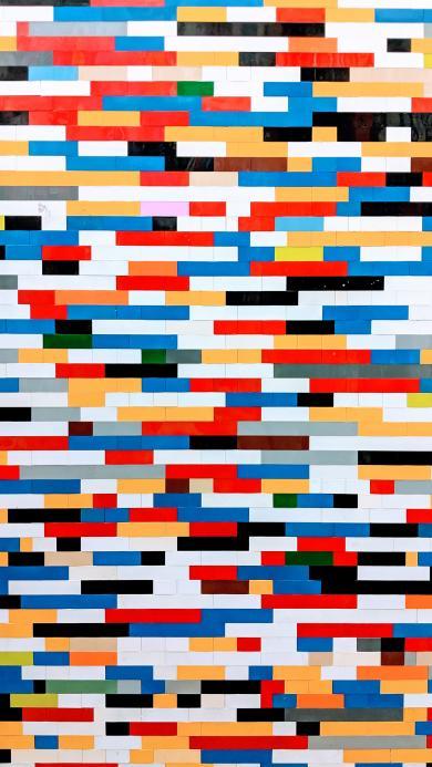 色彩 色块 层叠 堆积