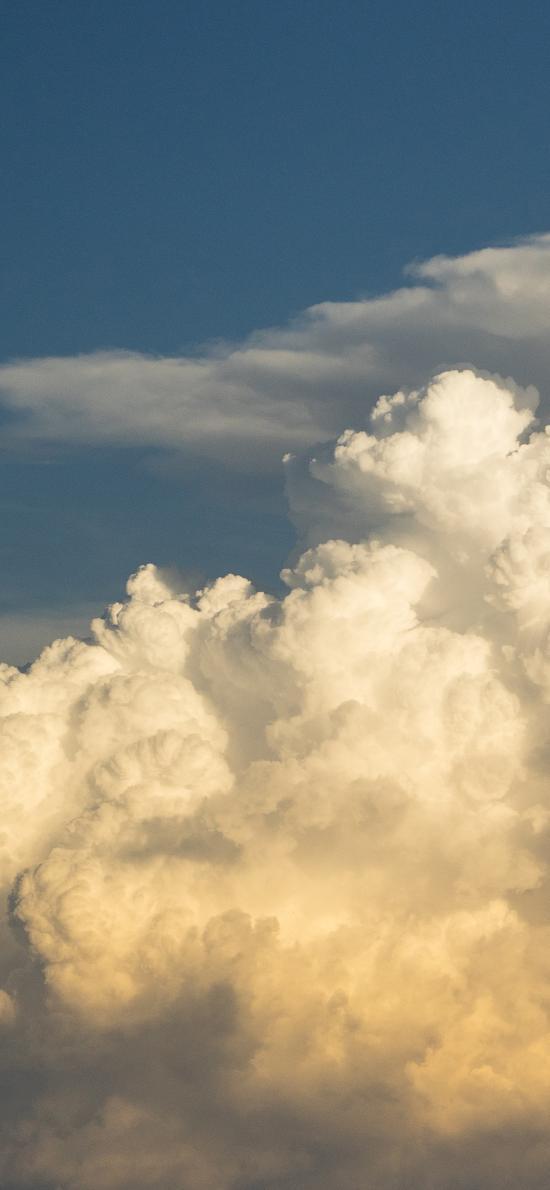 云朵 云海 高空 云层