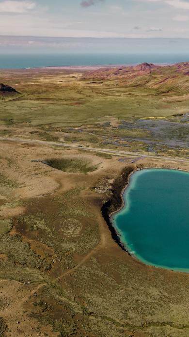 郊外 平原 湖泊 自然美景