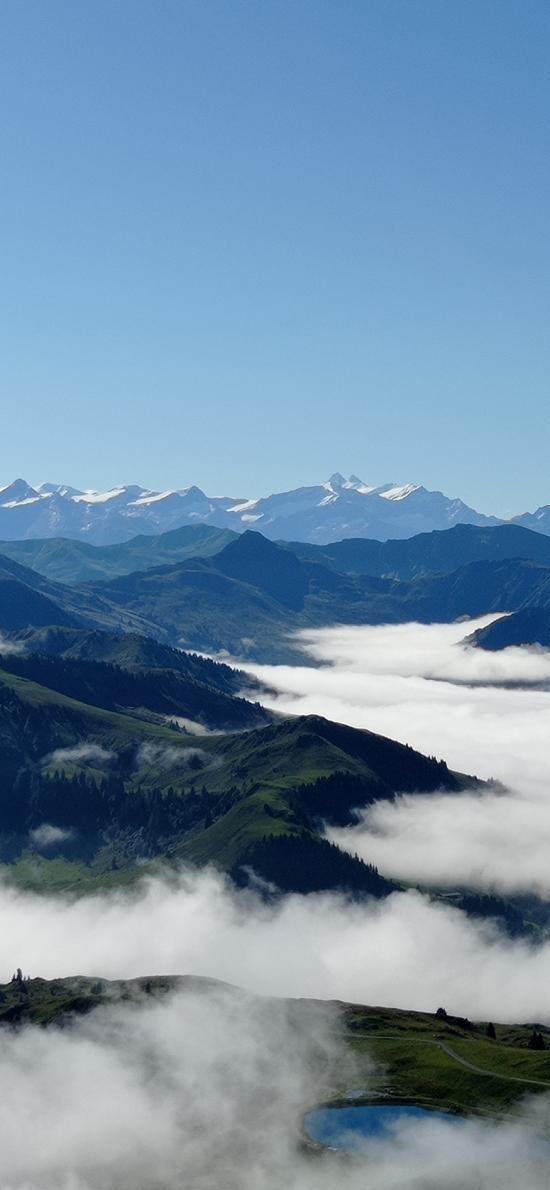 山川 云层 云海 大自然 山顶