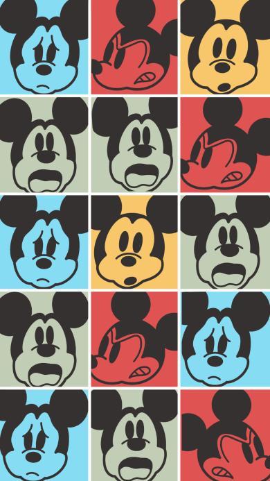 米奇 平铺 表情 色彩 迪士尼