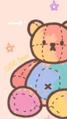 小熊 可爱 渐变 色彩