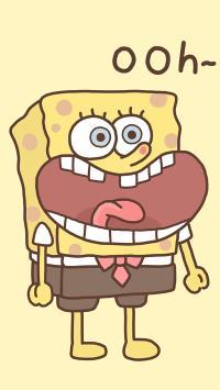 海绵宝宝 动画 可爱 卡通 黄色 ohh 大嘴