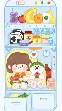 冰箱 卡通 女孩 可爱 肉肉酱