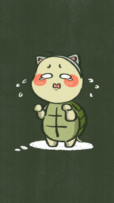 可爱 哭泣 卡通 龟