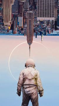 孤独宇航员 scott listfield  插画 建筑 背影