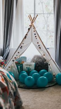 气球 敞篷 卧室 布置 装饰