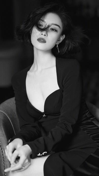 倪妮 演员 明星 艺人 黑白