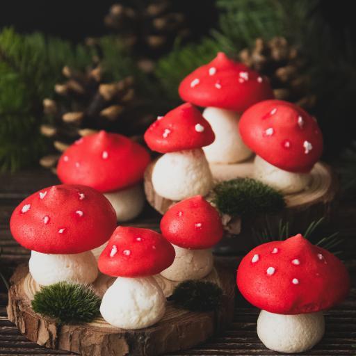 甜品 点心 造型 红菇 蘑菇