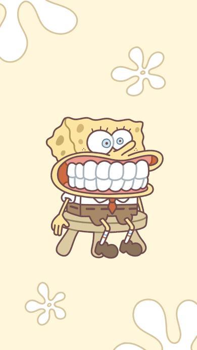 海绵宝宝 龇牙 牙床 趣味