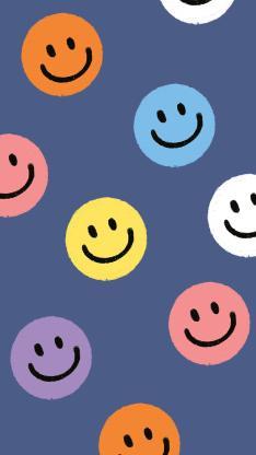 笑脸 表情 平铺 蓝色