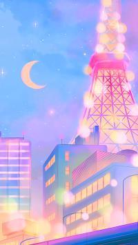 月亮 茶壶 夜晚 城市 塔
