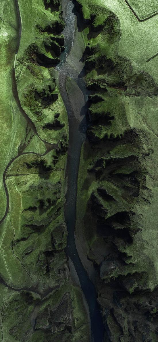 河流 航拍  大自然 绿色
