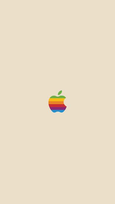 苹果 logo 品牌 黄色