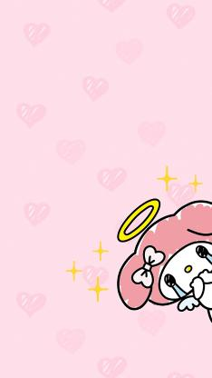 美乐蒂 爱心 粉色 三丽鸥 哭泣 流泪