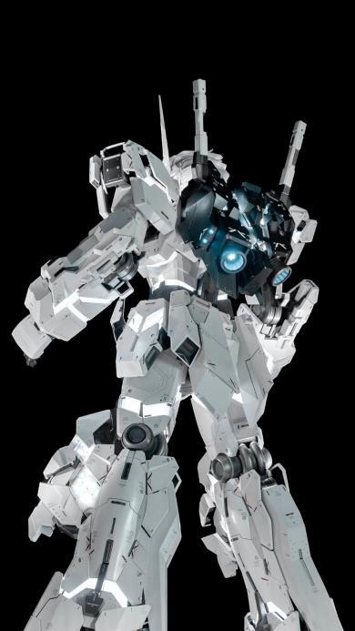 高达 机器人 机械 组装 黑白