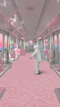 梦境列车 粉色 车厢 宇航员 太空服