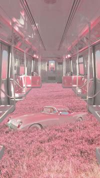 梦境列车 粉色 车厢 汽车 太空服
